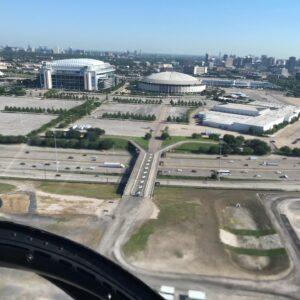 Aerial View Of Astrodome, Reliante Stadium