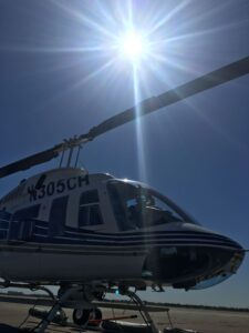 White Helicopter Angle One