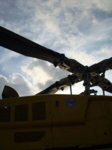 Yellow Helicopter Blades