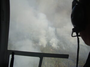 Aerial View Of Forest Burning Angle One
