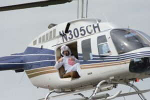 Man In White Helicopter